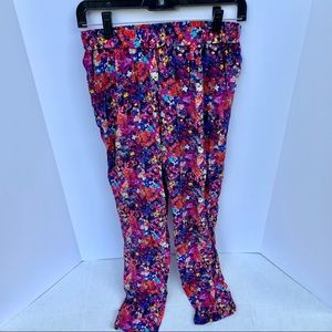 Joie Colorful Floral Silk Pants